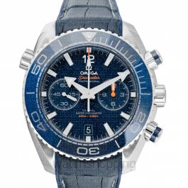 Seamaster Planet Ocean 600M Co‑Axial Master Chronometer Chronograph 45.5 mm Automatic Blue Dial Steel Men's Watch