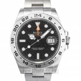 Rolex Explorer II Black Dial Stainless Steel Oyster Bracelet Automatic Men's Watch 216570BKSO