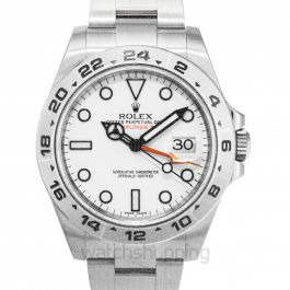 Rolex Explorer II White Dial Stainless Steel Oyster Bracelet Automatic Men's Watch 216570WSO