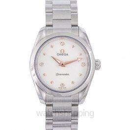 Seamaster Aqua Terra 150M Quartz 28mm Quartz White Dial Diamonds Ladies Watch