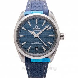 Seamaster Aqua Terra 150M Co‑Axial Master Chronometer 38 mm Automatic Blue Dial Steel Men's Watch