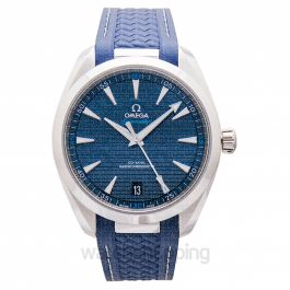 Seamaster Aqua Terra 150M Co‑Axial Master Chronometer 41 mm Automatic Blue Dial Steel Men's Watch