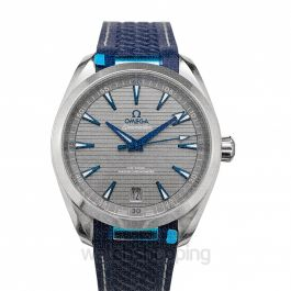 Seamaster Aqua Terra 150M Omega Co‑Axial Master Chronometer 41 mm Automatic Grey Dial Stainless Steel Men's Watch