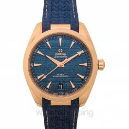 Seamaster Aqua Terra 150M Co-Axial Master Chronometer 41 mm Automatic Blue Dial Gold Men's Watch