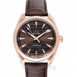 Seamaster Aqua Terra 150M Co‑Axial Master Chronometer 41mm Automatic Brown Dial Gold Men's Watch
