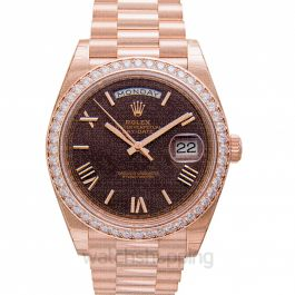 Day-Date 40 Chocolate 18k Pink Gold 40mm