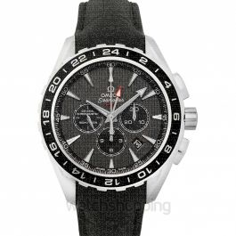 Seamaster Aqua Terra 150M Co‑Axial GMT Chronograph 44 mm Automatic Grey Dial Steel Men's Watch