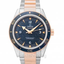 Seamaster 300 Master Co‑Axial 41 mm Automatic Blue Dial Titanium Gold Men's Watch
