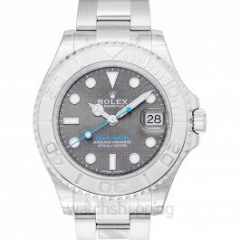 Rolex Yacht-Master Rhodium Dial Steel and Platinum Oyster Ladies Watch 268622RSO