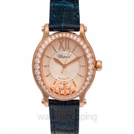 Happy Sport Oval Automatic Mother Of Pearl Dial Diamonds Ladies Watch