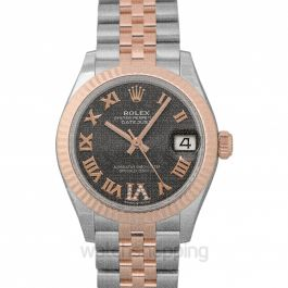 Datejust 31 Steel And 18ct Everose Gold Automatic Silver Diamond Dial Ladies Watch