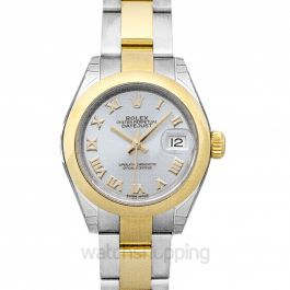 Oyster Perpetual Steel And 18ct Yellow Gold Automatic Silver Dial Ladies Watch