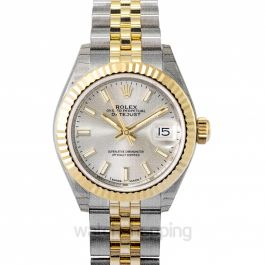 Lady-Datejust 28 Rolesor Yellow Fluted / Jubilee / Silver