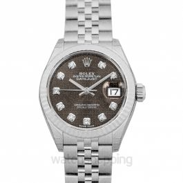 Lady-Datejust 28 Dark Grey 18k White Gold/Steel Dia 28mm