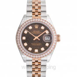 Lady-Datejust 28 Chocolate Steel/18k Everose Gold Dia 28mm