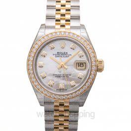 Lady-Datejust 28 Rolesor Yellow Diamond / Jubilee / MOP