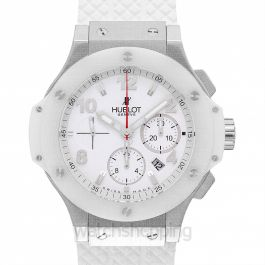 Big Bang St. Moritz Chronograph Automatic White Dial Stainless Steel Unisex Watch