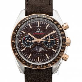 Speedmaster Moonwatch Co‑Axial Master Chronometer Moonphase Chronograph 44.25mm Automatic Brown Dial Gold Men's Watch