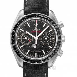 Speedmaster Moonwatch Co‑Axial Master Chronometer Moonphase Chronograph 44.25 mm Automatic Black Dial Steel Men's Watch