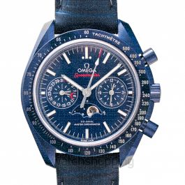 Speedmaster Moonwatch Co‑Axial Master Chronometer Moonphase Chronograph 44.25mm Automatic Blue Dial Ceramic Men's Watch