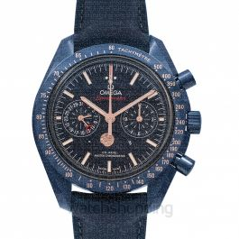Speedmaster Moonwatch Blue Side of the Moon Co‑Axial Master Chronometer Moonphase Chronograph 44.25mm Automatic Blue Dial Ceramic Men's Watch