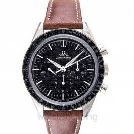 Speedmaster Moonwatch Chronograph 39.7 mm Manual-winding Black Dial Stainless Steel Men's Watch