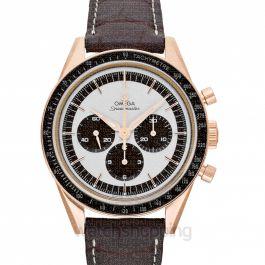 Speedmaster Moonwatch Chronograph 39.7mm Manual-winding Silver Dial Sedna™ gold Men's Watch