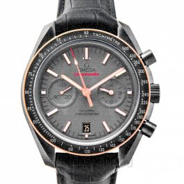 Speedmaster Moonwatch Co‑Axial Chronograph 44.25mm Automatic Grey Dial Ceramic Men's Watch