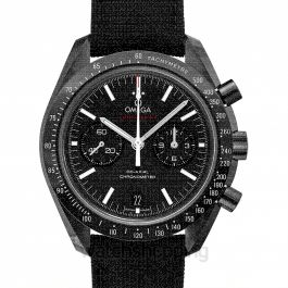 Speedmaster Moonwatch Co‑Axial Chronograph 44.25 mm Automatic Black Dial Ceramic Men's Watch