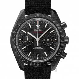 Speedmaster Moonwatch Co‑Axial Chronograph 44.25 mm Automatic Black Dial Black ceramic Men's Watch