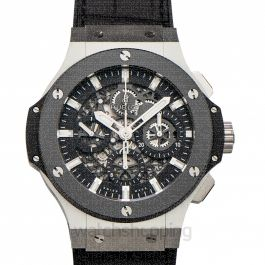 Big Bang Chronograph Automatic Black Skeleton Dial Stainless Steel Men's Watch