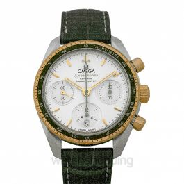 Speedmaster Co‑Axial Chronograph 38 mm Automatic Silver Dial Yellow Gold Ladies Watch
