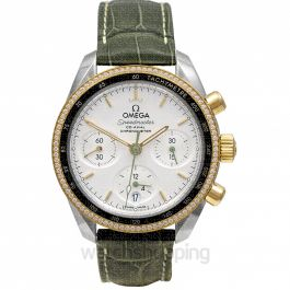 Speedmaster 38 mm Co‑Axial Chronograph 38 mm Automatic Silver Dial Yellow Gold Men's Watch
