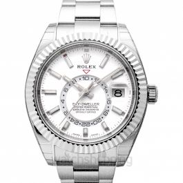 Sky-Dweller White 18k White Gold 42mm