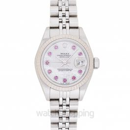 Datejust 10P ruby white shell clockface/white gold 26mm