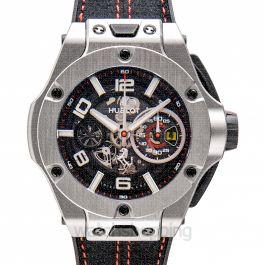 Big Bang Ferrari Unico Titanium Automatic Black Dial Men's Watch
