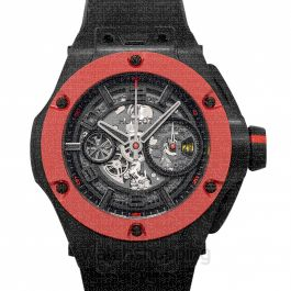 Big Bang Ferrari Unico Carbon Red Ceramic Automatic Black Dial Men's Watch
