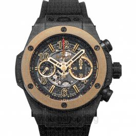 Big Bang Unico Magic Gold Automatic Skeleton Dial Black Ceramic Men's Watch