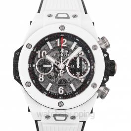 Big Bang Unico White Ceramic Automatic Black Dial Men's Watch