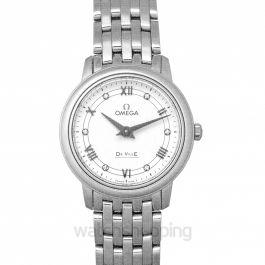 De Ville Prestige Quartz 27.4mm Quartz White Dial Stainless Steel Ladies Watch
