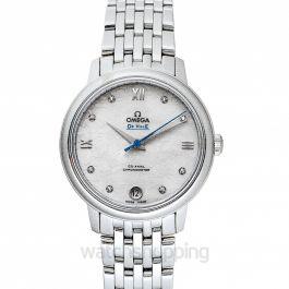 De Ville Prestige Co‑Axial 32.7mm Orbis Automatic White Dial Diamonds Ladies Watch