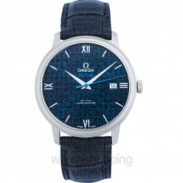 De Ville Prestige Co‑Axial 39.5mm Automatic Blue Dial Steel Men's Watch