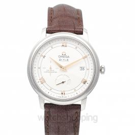 De Ville Prestige Co‑Axial Power Reserve 39.5mm Automatic Silver Dial Steel Men's Watch