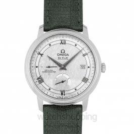 De Ville Prestige Co‑Axial Power Reserve 39.5mm Silver Dial Steel Men's Watch