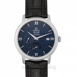 De Ville Prestige Co‑Axial Power Reserve 39.5mm Automatic Blue Dial Steel Men's Watch