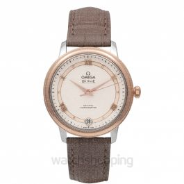 De Ville Prestige Co‑Axial 32.7mm Automatic White Dial Red Gold Ladies Watch