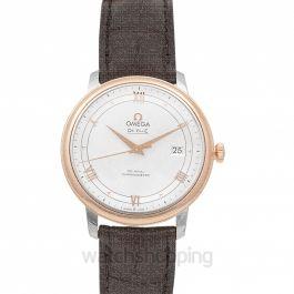 De Ville Prestige Co‑Axial 39.5mm Automatic Silver Dial Red Gold Men's Watch