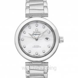 De Ville Ladymatic Co‑Axial 34 mm Automatic White Dial Diamonds Ladies Watch