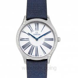 De Ville Quartz White Dial Ladies Watch