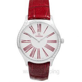 De Ville Tresor Quartz 36mm  White Dial Steel Ladies Watch